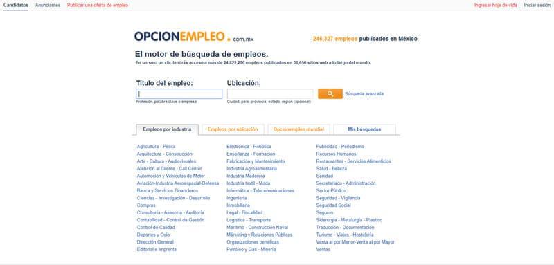 pagina para buscar trabajo en linea