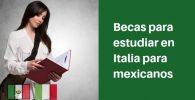becas para estudiar en italia