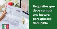 requisitos para que una factura sea deducible